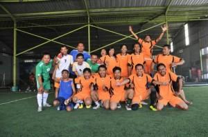 Latihan Bareng Pemain U – 16 Vs Tim Futsal PWI Jombang