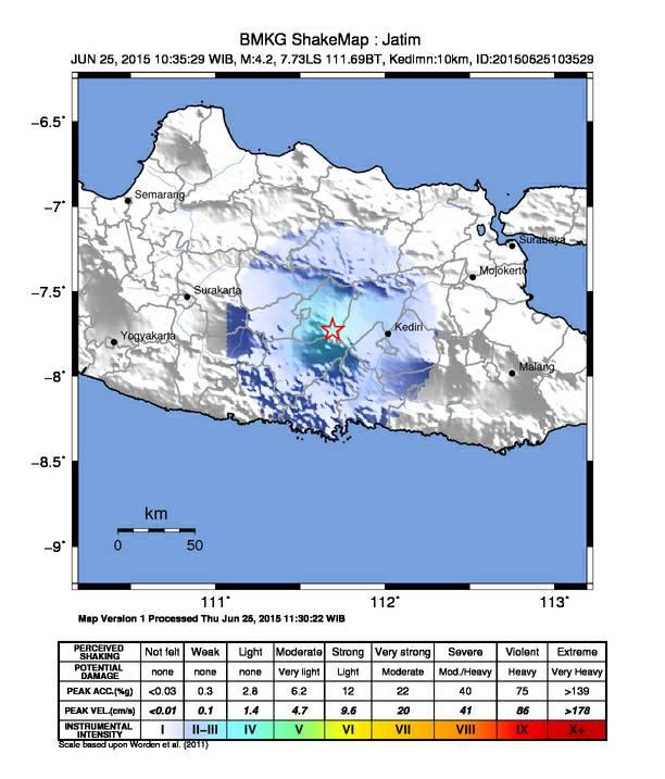 Peta Pusat Gempa-1
