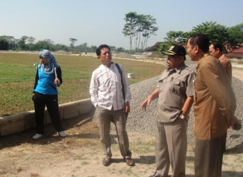 Tim Banggar Kab Blitar sidak pembangunan Stadion di Nglegok