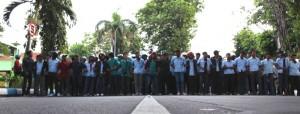 Demo UMK, Ribuan Buruh di Jombang Ancam Somasi Ketua DPRD