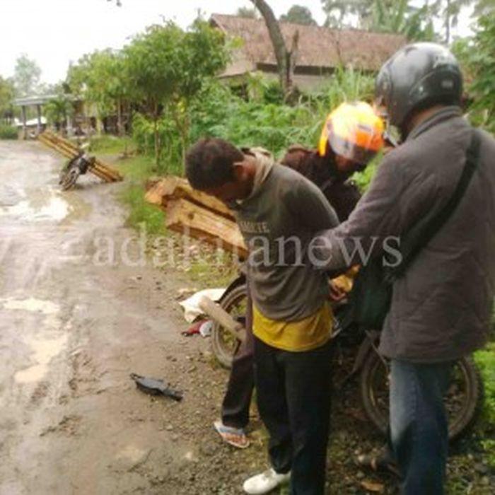 Bawa Kayu Pakai Motor Bodong, Pelaku Illegal Logging Ditangkap