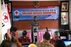 Musyawarah Kota Ke-X PMI Kota Kediri, Walikota Apresiasi Layanan Kemanusiaan