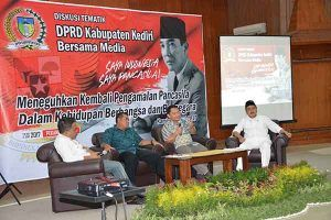 "DPRD Kabupaten Kediri Ajak Wartawan Diskusi, ""Saya Indonesia, Saya Pancasila"""