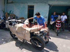 Program Motis: Ratusan Sepeda Motor Turun Di Stasiun Madiun
