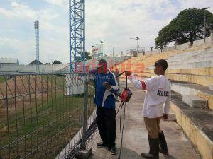 Pagar Stadion Wilis Madiun Dilas Ulang