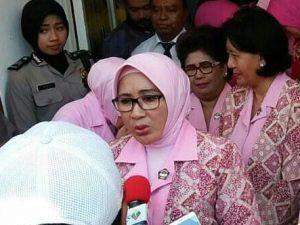 Resmikan GOR SMA Kemala Bhayangkari 3 Porong, Istri Kapolri Minta Siswa Salurkan Hobi Positif