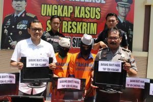 Polresta Sidoarjo Amankan Dua Residivis Spesialis Pembobol SD