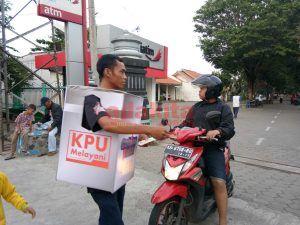 Sosialisasi Tahapan Pemilukada, KPU Gelar Lomba Gerak Jalan