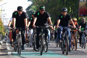 Pasca Dilaunching, Jalur Khusus Sepeda Langsung Dijajal Walikota