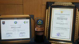 Kabupaten Nganjuk Terima Penghargaan Swasti Saba Padapa