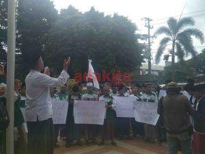 GP Ansor Demo Tuntut Kebebasan Santri yang Dituduh Sebagai Penadah