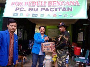 PMII STAIN Kediri Beri Bantuan Korban Bencana di Pacitan