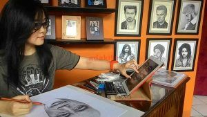 Maria Shierly Fransiska, Pelukis Hyper Realis yang Ingin Serahkan Sketsa Jokowi Secara Langsung