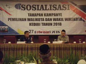 Sosialisasikan Tahapan Pilwali, KPU Kota Kediri Dapat Berbagai Masukan dan Saran