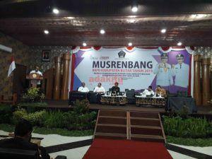 Musrenbang RKPD Tahun 2019, Bupati Blitar Sampaikan 6 Prioritas Pembangunan