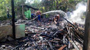 Rumah dan Motor, Ludes Terbakar