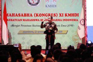 Presiden Joko Widodo Membuka Kongres Kesatuan Mahasiswa Hindu Dharma Indonesia di Yogyakarta