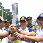 Seribu Senyum Anak Bangsa Mengarak Pesta Rakyat Asian Games 2018 dari Cianjur ke Cipanas