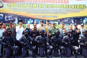 Polres Kediri Pamerkan Pasukan Pasopati Kepada Masyarakat