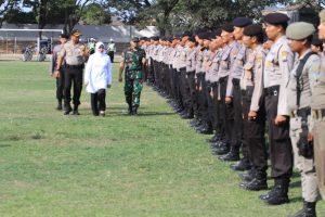 Polres Kediri Gelar Apel Pergeseran Pasukan Pengamanan Pilkades Serentak 2019