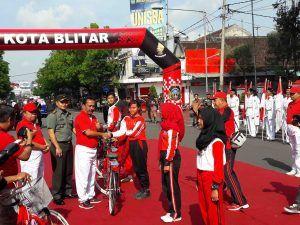 Walikota Blitar Launching 4.400 Sepeda Gratis