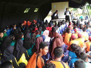Ratusan Siswa SD/SMP Se-Kota Kediri Ikuti Jambore Pelajar di Mako Brimob Kota Kediri