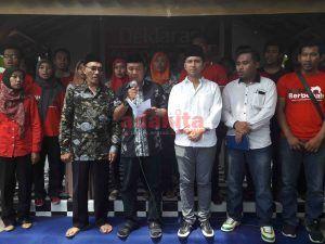 Ratusan Pemuda Mataraman Deklarasi Dukung Khofifah-Emil
