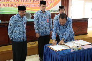 4 SKPD di Kabupaten Kediri Jadi Zona Integritas