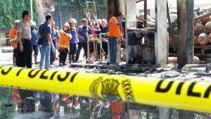 Kebakaran di SPBU Berbek, 1 Orang Tewas Terpanggang