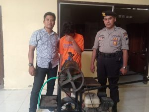 Pria Asal Pasuruan Curi Mesin Gilingan Pemeras Tebu Di Kediri, Pelaku Tertangkap Di Blitar